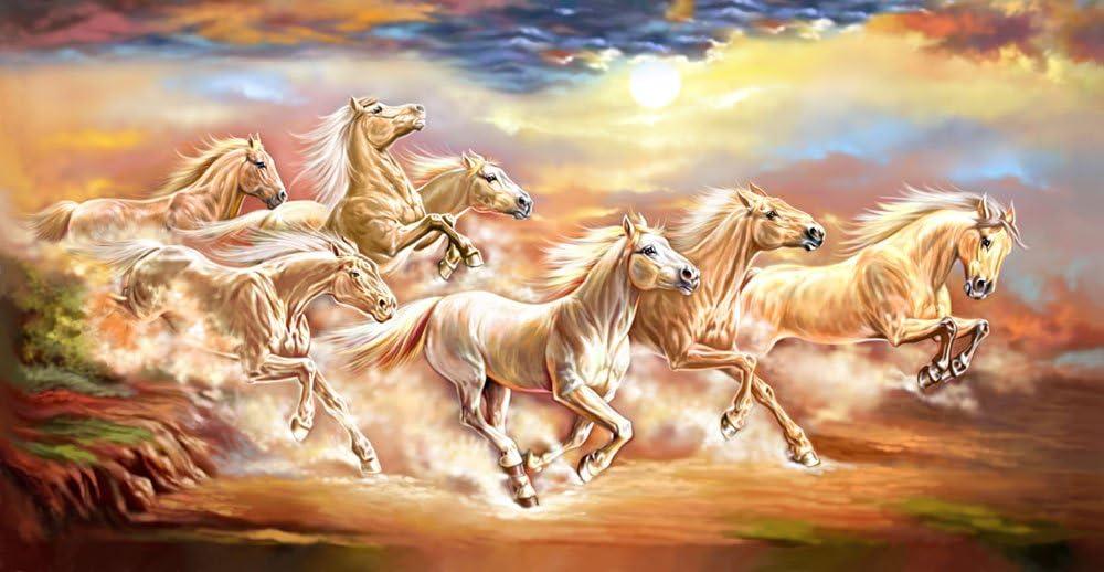 The Art Factory Feng Shui ocho de cuadros de caballo 91,44 cm x 50,8 cm