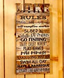 The Lakeside Collection Die-Cut Lake Rules Wall Plaque