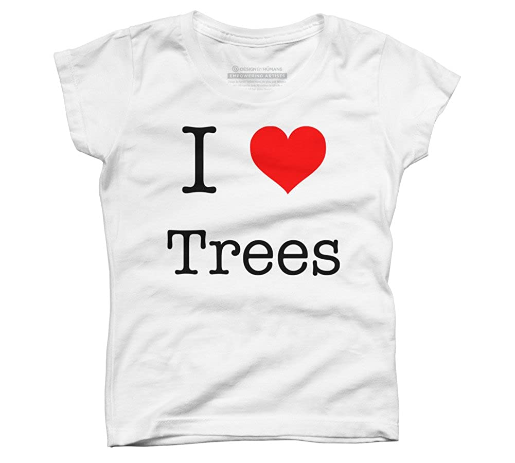 Design By Humans I Love Trees Girls Youth Graphic T Shirt