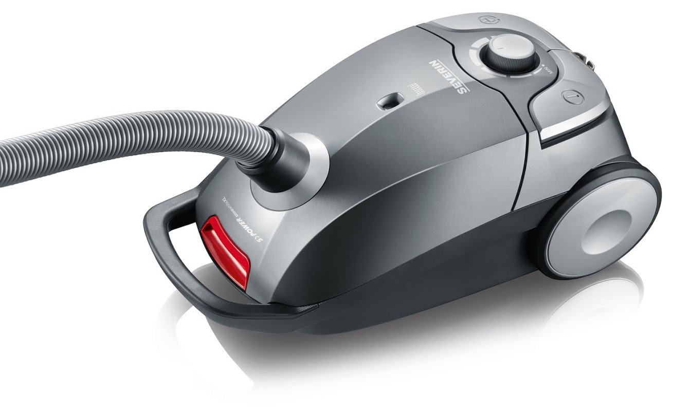 Severin Germany Vacuum Cleaner, Corded Platinum Grey