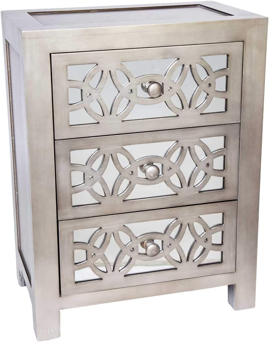 25.75 H Glam Slam 3 Drawer Cabinet