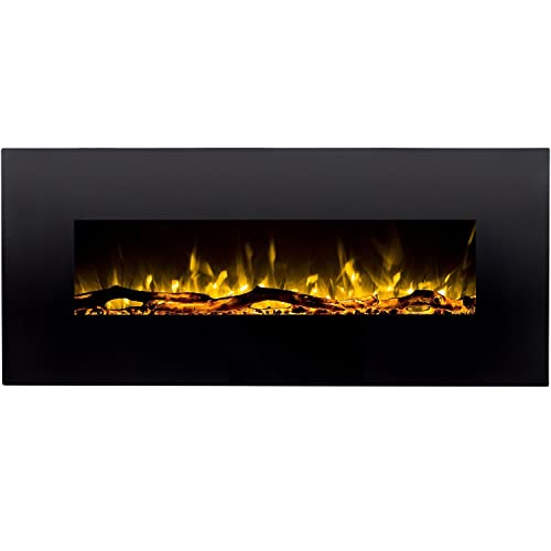 gas wall fireplace built in regal flame denali black 60 log pebble crystal color heater electric wall mount gas fireplace amazoncom