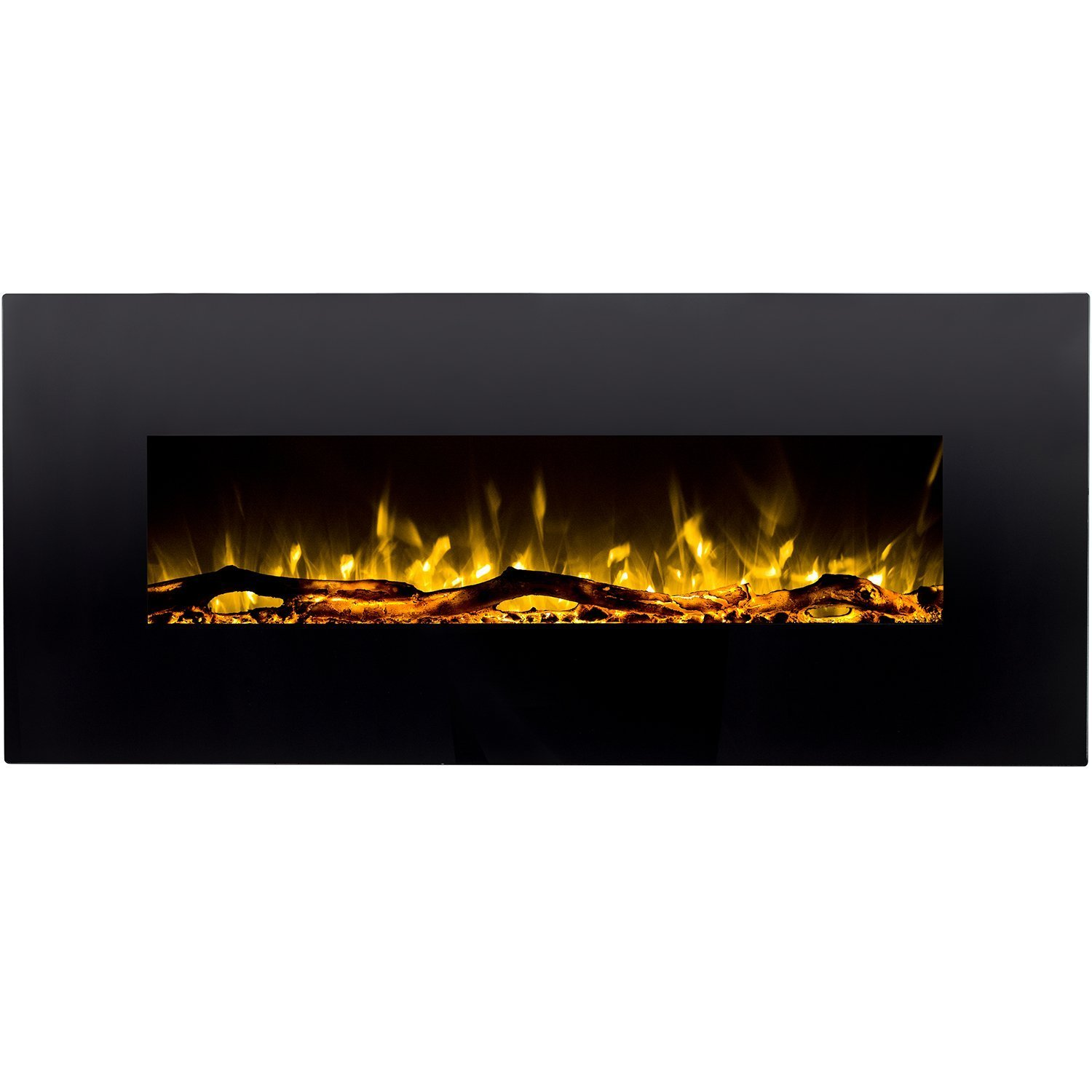 Regal Flame Denali Black 60 Log, Pebble, Crystal, 3 Color Heater Electric Wall Mounted Fireplace Better than Wood Fireplaces, Gas Logs, Fireplace Inserts, Gas Fireplaces, Space Heaters, Propane ''