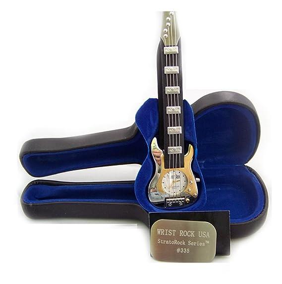 Muñeca Rock Gibson guitarra reloj plateado novedad reloj stratorock 335
