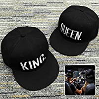 UxradG Snapback Gorra de béisbol King Queen con Estampado de ...