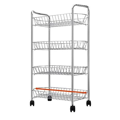 Amazon.com: LLF Carrito de almacenamiento de cocina ...