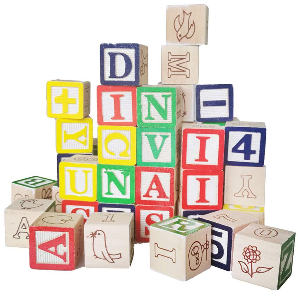 最安値 Fenteer 50個 木製 カラー カートゥーン ABC アルファベット B07H8W88JQ 数字 学習 キューブ ブロック ブロック スタック 幼児 カラー 認識 教育玩具 B07H8W88JQ, 快適ペットライフ:a8563963 --- a0267596.xsph.ru