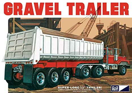 CPM MPC 1:25 Scale Axle Gravel Trailer Model Kit (3-Piece)