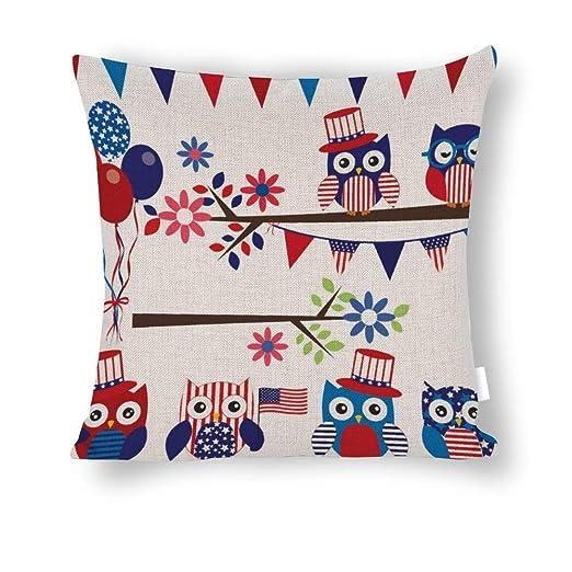 UCLIPERS Funda de Almohada Decorativa de algodón con diseño ...