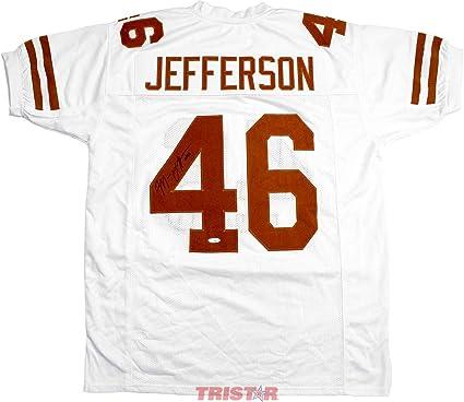 814532d4c Malik Jefferson Autographed Jersey - Custom White - Autographed College  Jerseys