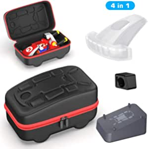 Accessories Kit Bundle Compatible with Nintendo Switch Mario Kart Live, OIVO Kart Case, Kart Mount Holder, Kart Head Cover, AR Lens Cover