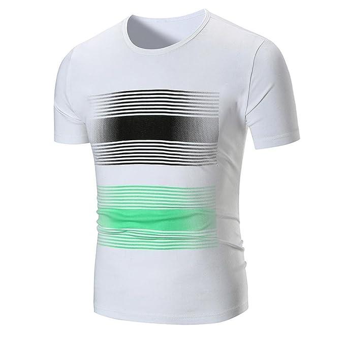 WINWINTOM Moda de Verano Camisetas, 2018 Hombre Camisetas y Polos, Hombres Verano Casual A