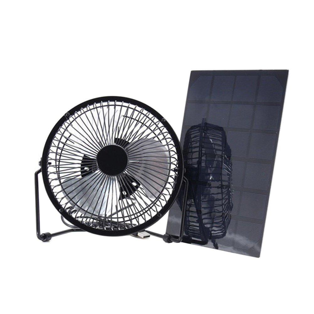 Xlight.ca Solar Panel Fan Mini Portable Cooling USB Solar Charging Fan for Home, Office, Car, Pets, Greenhouse (3W)