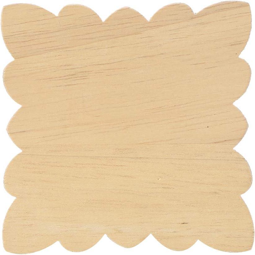Haushalt Holzapplikationen 4 St/ücke Sch/öne Blumenmuster Holz Geschnitzte Applique M/öbel Gartent/ür Dekoration Zubeh/ör