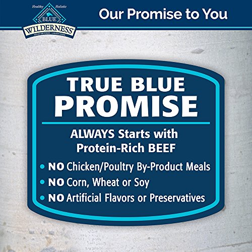 Blue Buffalo Wilderness Rocky Mountain Recipe High Protein Grain Free, Natural Puppy Wet Dog Food, Red Meat 12.5-Oz Can (Pack Of 12)