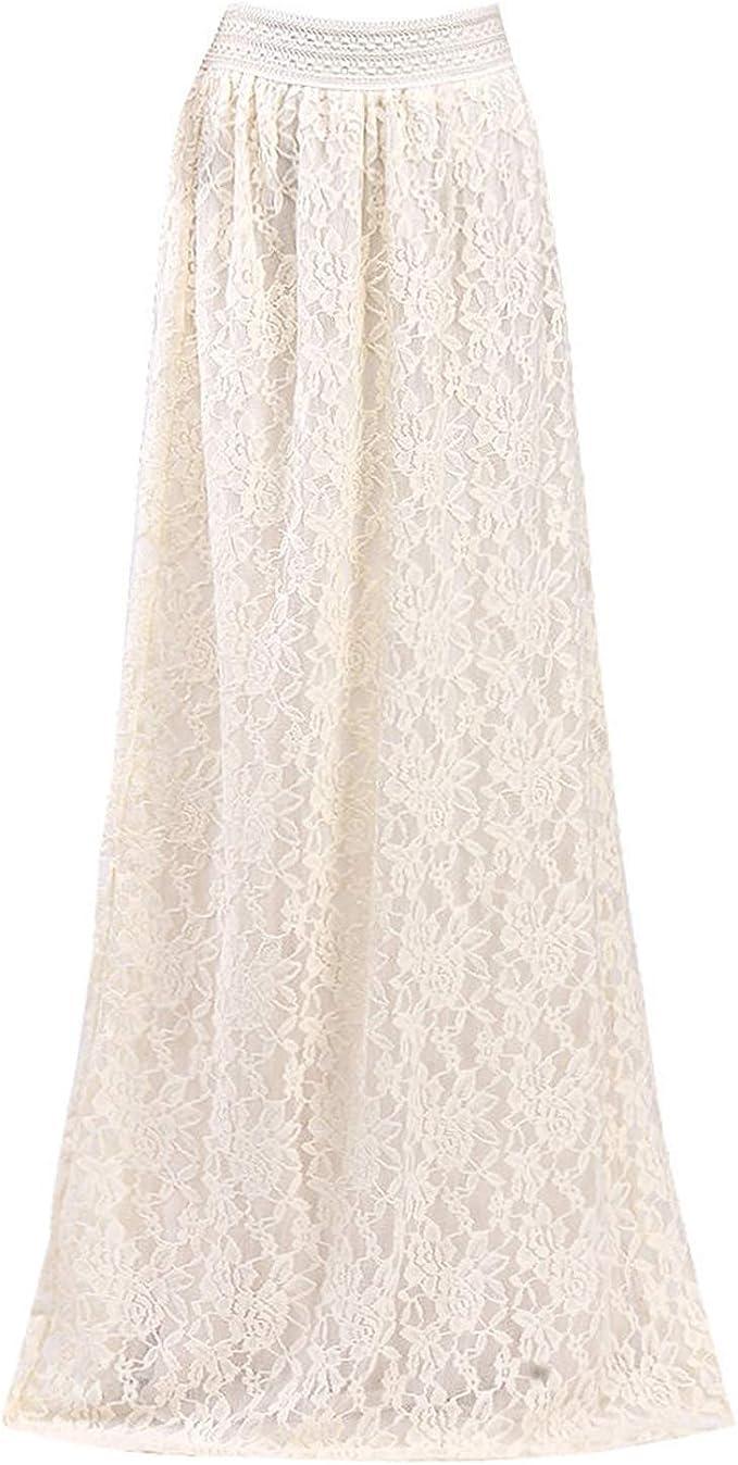 Availcx-Sexy Long Skirt Faldas largas Elegantes para Mujer Falda ...