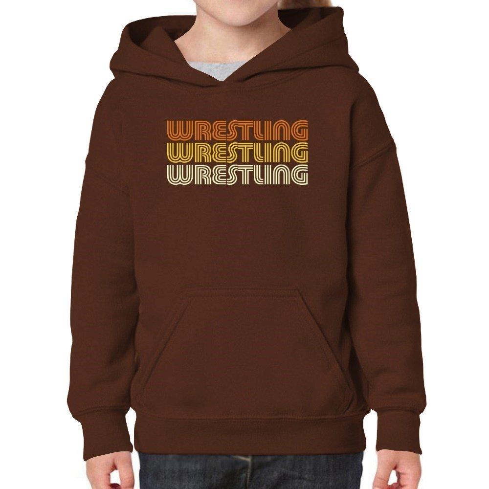 Teeburon Wrestling Retro Color Girl Hoodie
