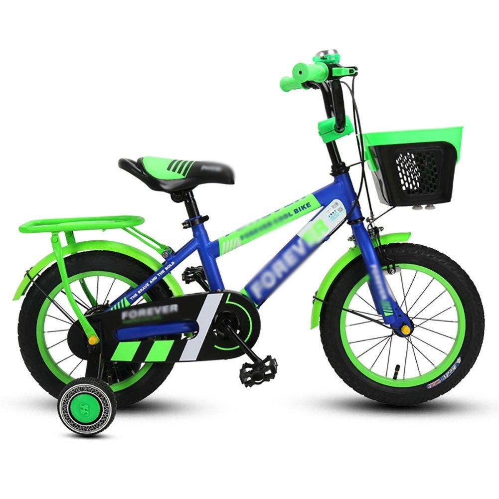 ブルーベビーベビーカー子供用自転車3-4-6-8歳の男の子と女の子サイクリング14 16 18インチアルミ合金キッズマウンテンバイク B07DXCYKZZ 16 inch