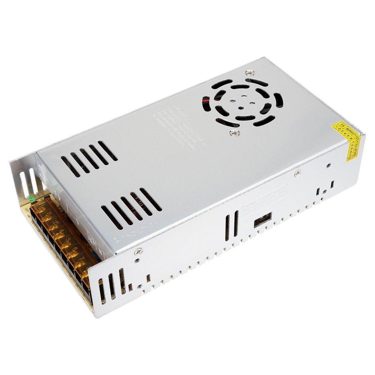Rextin DC 12V 400W 33A Regulated Transformer Power Supply Driver SW For LED Strip Lights (400W)