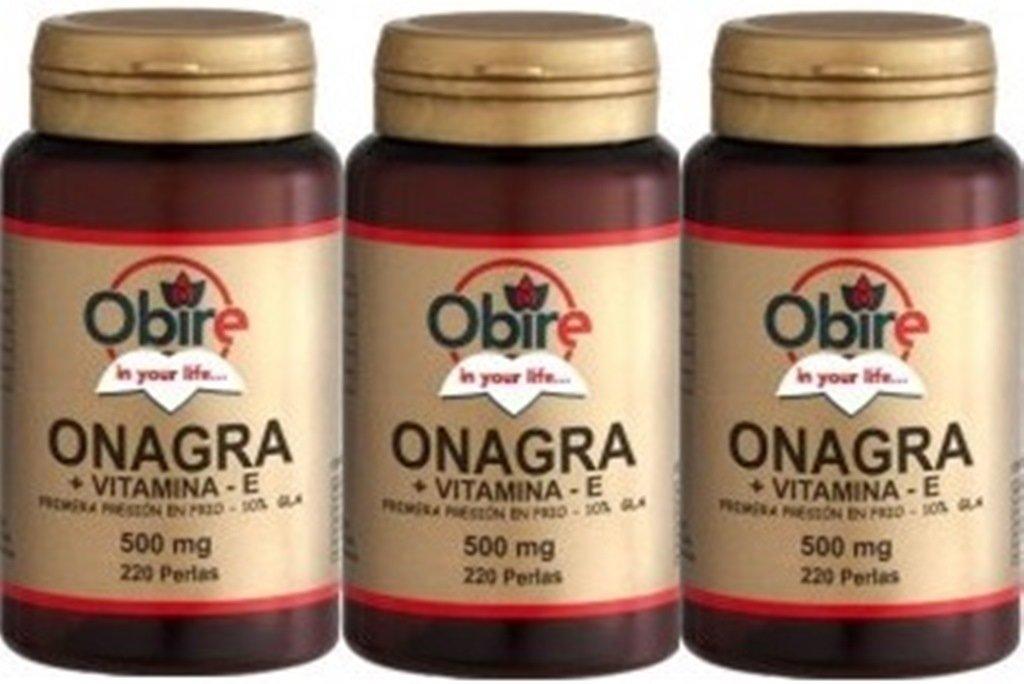 Aceite de onagra 500 mg. (10% gla) 220 perlas: Amazon.es: Salud y cuidado personal