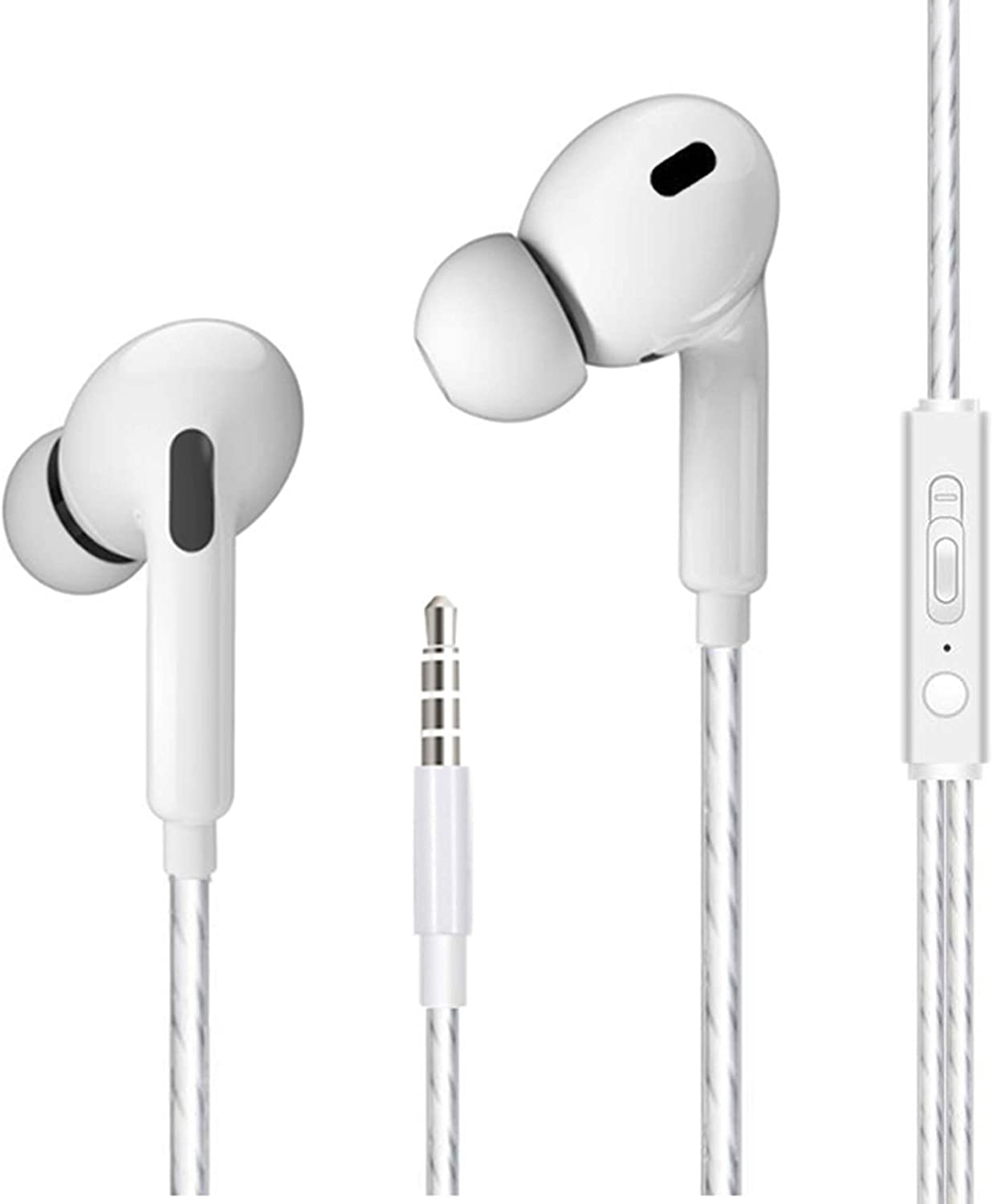 2020 Upgrade Version iPhone Earphones with 3.5mm Headphone Plug MFi Certified with Mic +Call+Volume Control Passive Noise Reduction Earbuds Compatible with iPhone 6s/6plus/6/5s,Android,PC Etc.