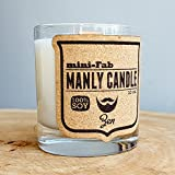 Manly Soy Candle - Relaxing Zen Scent Hand Poured into a Whiskey Glass with a Wood Wick