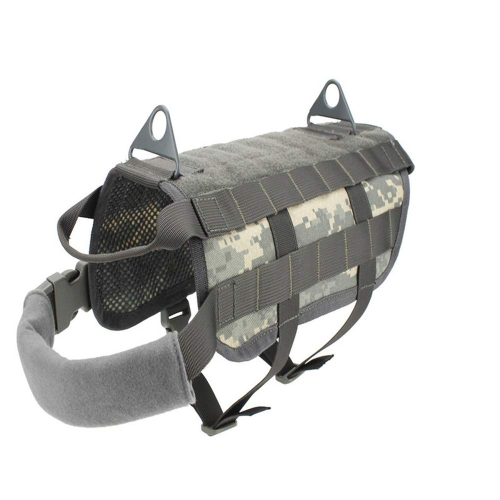 ACU L ACU L Outdoor Camouflage Plate Carrier Dog Clothes Load Jacket Gear Vest Tactical Dog Training Molle Vest ACU L