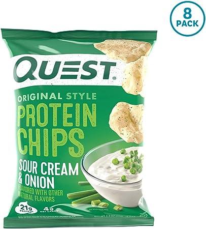 プロテインチップスサワークリーム&オニオンフレイバークエスト8袋セット並行輸入品QuestNutritionProteinChipsSourCream&OnionPackof8海外直送品