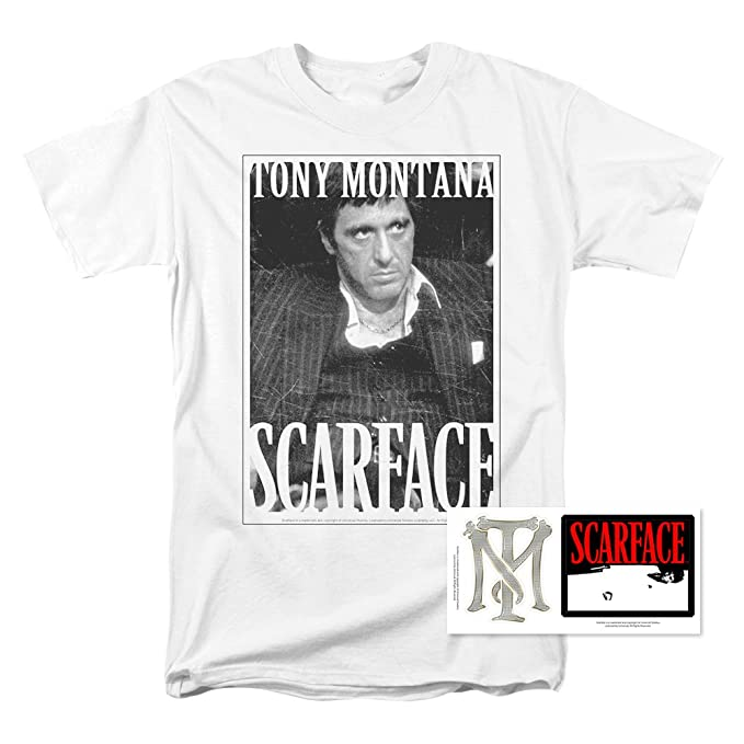 c98a3b3017d Amazon.com  Popfunk Scarface Tony Montana T Shirt  Clothing