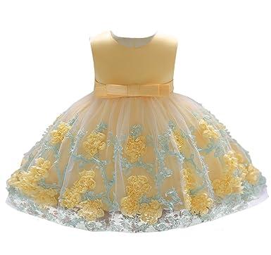 6dee30cbdee88 Cloudkids ベビードレス 女の子 ワンピース 花柄 新生児 赤ちゃん セレモニードレス フォーマル リボン お宮参り 結婚