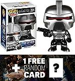 Cylon Centurion: Funko POP! x Battlestar Galactica Vinyl Figure + 1 FREE American TV Themed Trading Card Bundle [51228]