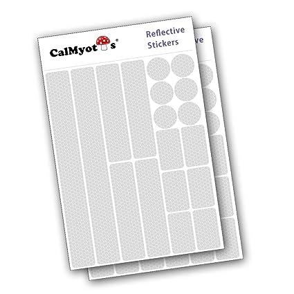 CalMyotis® Pegatinas luminosas, reflectores establecer, de 18 piezas para el casco de la