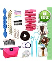 Ultimate Hair Styling Makeover Accessories Tool Kit Bonus eBOOK Gift Set for Girls Teens