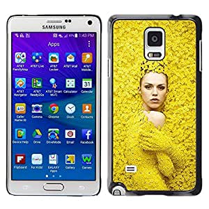 Caucho caso de Shell duro de la cubierta de accesorios de protección BY RAYDREAMMM - Samsung Galaxy Note 4 SM-N910 - Fashion Spring Woman Design