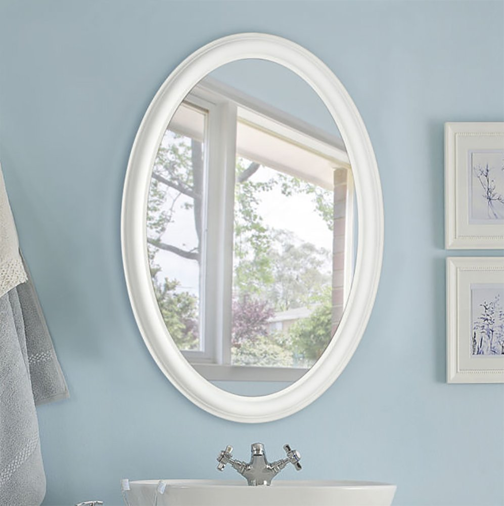 , /Bianco 54/x 79/cm Edizioni Innova Mist Free Specchio Ovale/
