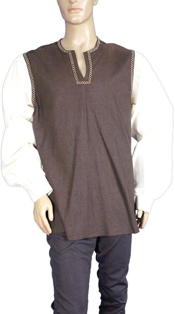 Medieval Factory Camisa vikinga dos colores: Amazon.es ...