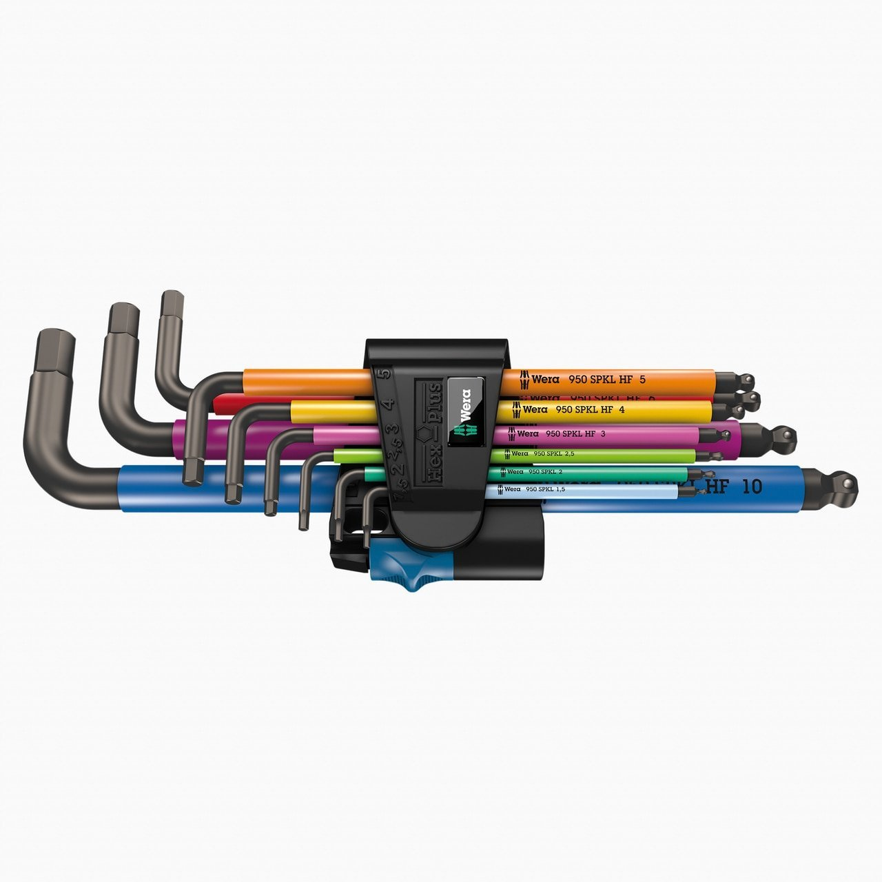 Wera 022210 Multicolor Metric L-key Set with Holding Function