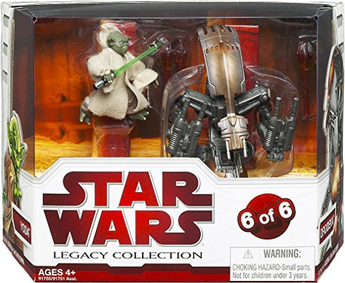 Star Wars Legacy Collection Geonosis Arena Showdown - Yoda and Droideka