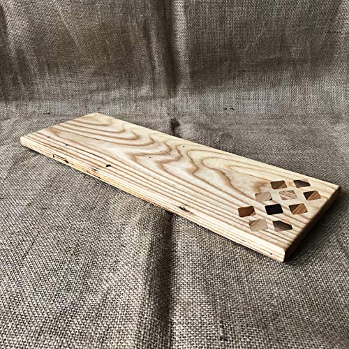 Ash Charcuterie Board with Multi Wood Diamond Inlays