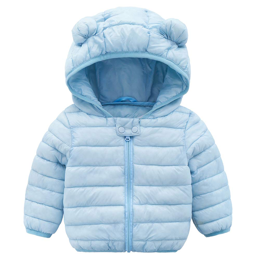 Winbetter Baby Girl Boy Light Down Cartoon Jacket Windproof Zipper Hooded Coat Winter Warm Snowsuit(Infants, Toddlers 3M-2T)