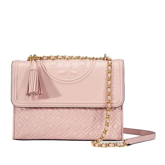 24388da40a38 Tory Burch Fleming Convertible Leather Shoulder Bag (Shell Pink)   Amazon.ca  Shoes   Handbags