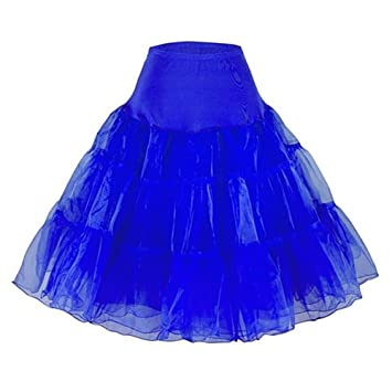 88c677d139c8 HENCY 50s Retro Vintage Petticoat Rock Ballett Tutu Unterrock Blau Medium