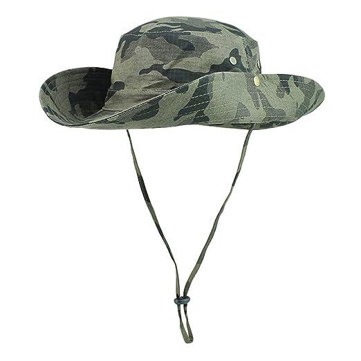 96bf61786 ISEYMI Outdoor Sun Hat Multifunctional Boonie Safari Hat Wide Brim Caps Sun  Block Fishing Hat UPF50+