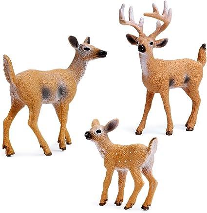 Set of 3 Resin FAWN Deer Figurines