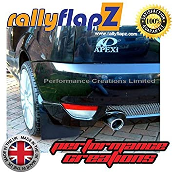 Mud Guard//Mud Flaps Kit Full Set of 4 Mudflaps Including all Fixings//Hardware Required /& Full Fitting Instructions! 4mm Thick Flexible PVC Black Logo Red Made in the UK Genuine rallyflapZ