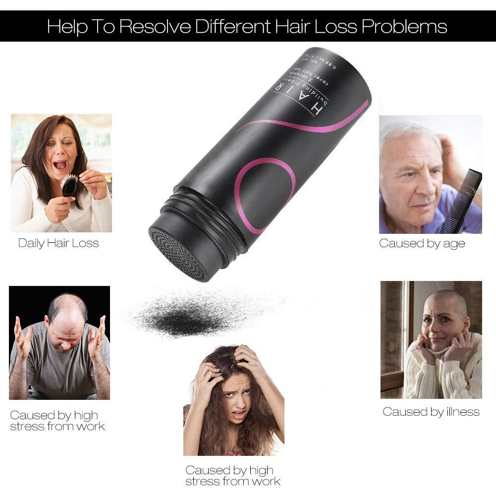 Crecimiento del Cabello Fibras para Pelo Corrector profesional Corrector para adelgazamiento del cabello Aerosol para el cabello con aplicador de spray para ...