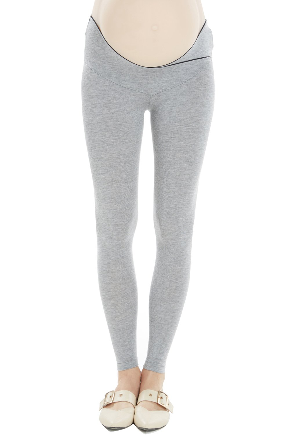 Cozyonme Maternity Pants Leggings Pregnancy Support Jeggings Capris Yoga Tights (Grey, XX-Large) by Cozyonme (Image #1)