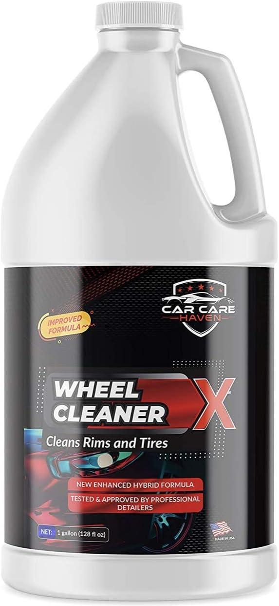 CAR CARE HAVEN Wheel Cleaner X (128oz Gallon)-Non Acidic Tire Rim Cleaner-Brake Dust, Oil Stain & Dirt-Ideal for Alloy, Aluminum, Chrome & Paint Rim Degreaser, Automotive Rim Shine, Restore & Protect