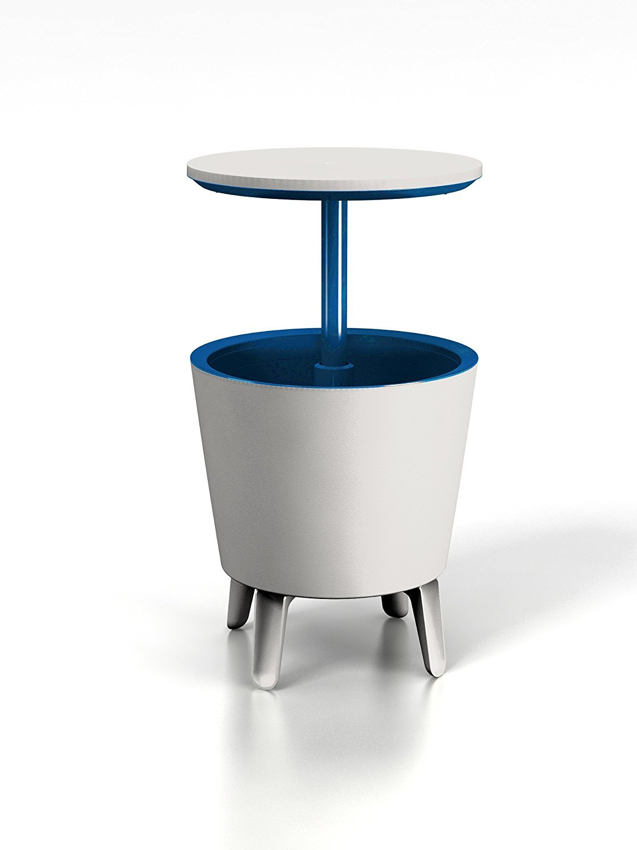 Cool Bar Outdoor Ice Cooler - Table Garden Furniture - White KeterHGF
