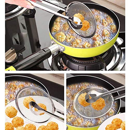 VIRZA TRADE Stainless Steel Filter Spoon and Clip New Design Kitchen Fried Gadget Accessory